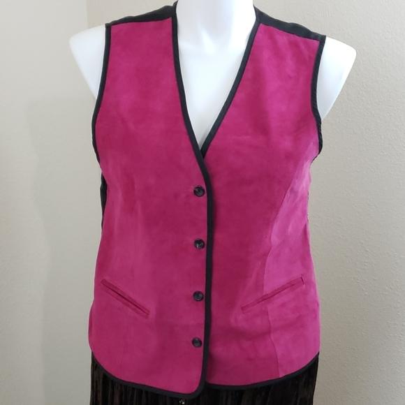 Diane Von Furstenberg Jackets & Blazers - NWOT Diane Von Furstenberg Leather Vest SZ L